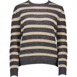 Sweter w kolorze brązowo-beżowym. Brązowe swetry damskie Gottardi, z wełny, z okrągłym kołnierzem. W wyprzedaży za 173.95 zł.