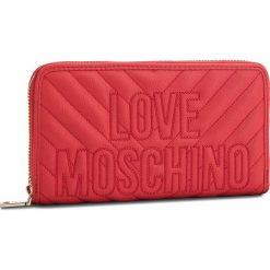 Duży Portfel Damski LOVE MOSCHINO - JC5585PP06KI0500  Rosso. Czerwone portfele damskie Love Moschino, ze skóry ekologicznej. Za 429.00 zł.