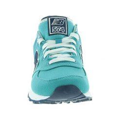 New Balance - Buty WL574POA. Zielone obuwie sportowe damskie New Balance, z materiału. W wyprzedaży za 229.90 zł.