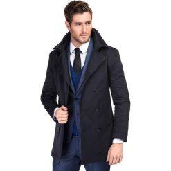 Płaszcz ALVARO PSGS000055. Brązowe płaszcze męskie Giacomo Conti, z elastanu, eleganckie. Za 899.00 zł.