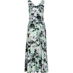 Sukienka bonprix jasny szarozielony z nadrukiem. Zielone sukienki damskie bonprix, z nadrukiem. Za 129.99 zł.