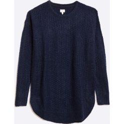 Pepe Jeans - Sweter dziecięcy. Swetry dla dziewczynek Pepe Jeans, z dzianiny, z okrągłym kołnierzem. W wyprzedaży za 119.90 zł.