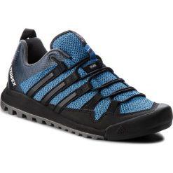 Buty adidas - Terrex Solo AC7885 Blubea/Cblack/Legink. Niebieskie trekkingi męskie Adidas, z materiału. W wyprzedaży za 409.00 zł.