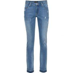 """Dżinsy ze stretchem 7/8 SKINNY bonprix niebieski """"bleached"""". Niebieskie jeansy damskie bonprix. Za 109.99 zł."""