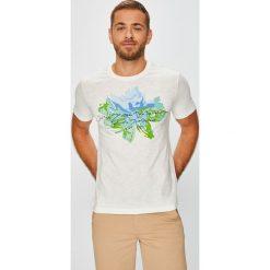 U.S. Polo - T-shirt. Szare koszulki polo męskie U.S. Polo, z nadrukiem, z bawełny. W wyprzedaży za 129.90 zł.