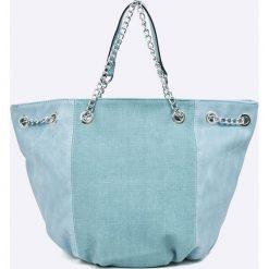 Answear - Torebka. Brązowe torebki do ręki damskie ANSWEAR, z materiału. W wyprzedaży za 69.90 zł.