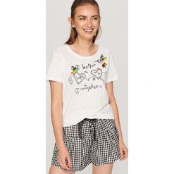 Piżama z szortami - Biały. Białe bielizna dla chłopców Reserved. Za 59.99 zł.