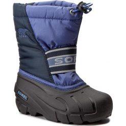 Śniegowce SOREL - Childrens Cub NC1881 Blues 498. Buty zimowe chłopięce Sorel, z gumy. W wyprzedaży za 189.00 zł.