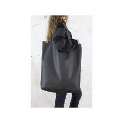 Mega Shopper bag grafitowa torba oversize Vegan. Szare torebki shopper damskie Hairoo, w paski. Za 185.00 zł.