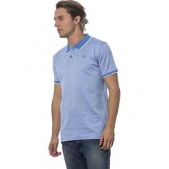Koszulka polo w kolorze niebieskim. Niebieskie koszulki polo męskie Roberto Cavalli, Trussardi, z haftami. W wyprzedaży za 319.95 zł.
