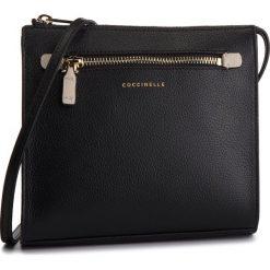 Torebka COCCINELLE - CV3 Mini Bag E5 CV3 55 E3 07 Noir/Seashell 515. Czarne listonoszki damskie Coccinelle, ze skóry. Za 899.90 zł.