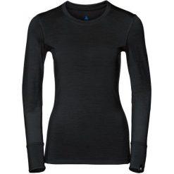 Odlo Koszulka damska Shirt l/s crew neck NATURAL 100% MERINO czarna r. L (110411). Bluzki damskie Odlo. Za 238.18 zł.