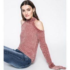 Answear - Sweter. Szare swetry damskie ANSWEAR, z dzianiny, z kapturem. W wyprzedaży za 59.90 zł.