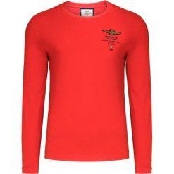 T-shirt AERONAUTICA MILITARE Pomarańczowy. Bluzki z długim rękawem męskie Aeronautica Militare, z aplikacjami, z włoskim kołnierzykiem. Za 300.00 zł.