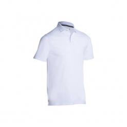 Koszulka polo do golfa 500 męska. Białe koszulki polo męskie INESIS, z bawełny. Za 39.99 zł.