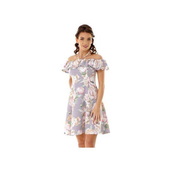 04283ee01b Rozkloszowana sukienka w stylu hiszpanki szara ED018-3 - Sukienki ...