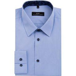 Koszula MICHELE 16-08-08-K. Niebieskie koszule męskie Giacomo Conti, z bawełny, z klasycznym kołnierzykiem, z długim rękawem. Za 229.00 zł.