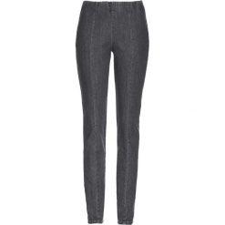 Dżinsy bez zamka w talii bonprix szary denim. Szare jeansy damskie bonprix. Za 99.99 zł.