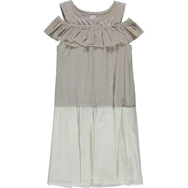 8862ea4fc2 Sukienka w kolorze szaro-białym - Sukienki dla dziewczynek marki ...