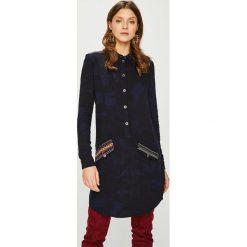 Desigual - Sukienka. Czarne sukienki damskie Desigual, z tkaniny, casualowe, z krótkim rękawem. W wyprzedaży za 399.90 zł.