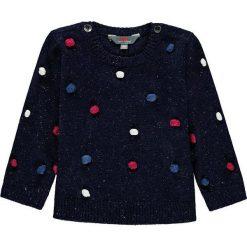 Sweter w kolorze granatowym ze wzorem. Swetry dla dziewczynek marki bonprix. W wyprzedaży za 49.95 zł.