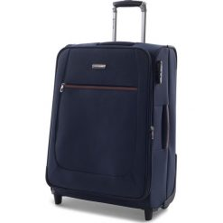 Średnia Materiałowa Walizka PUCCINI - EM 50405 B 7 Granatowy. Niebieskie walizki damskie Puccini, z materiału. W wyprzedaży za 199.00 zł.