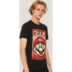 T-shirt super mario - Czarny. Czarne t-shirty męskie House. Za 49.99 zł.