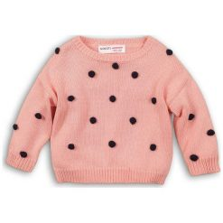 Minoti Dziewczęcy Sweter Z Czarnymi Pomponami 122/128 Różowy. Swetry dla dziewczynek marki bonprix. Za 89.00 zł.