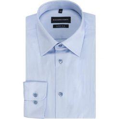 Koszula MICHELE KDNE000334. Niebieskie koszule męskie Giacomo Conti, z bawełny, z klasycznym kołnierzykiem, z długim rękawem. Za 199.00 zł.
