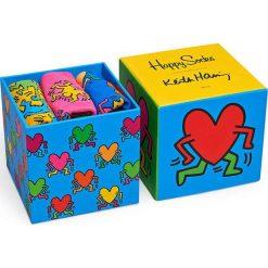 Happy Socks - Skarpety Keith Haring Box (3-pak). Niebieskie skarpety męskie Happy Socks, z bawełny. W wyprzedaży za 89.90 zł.