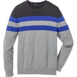 Sweter Regular Fit bonprix szary melanż - antracytowy melanż - szafirowy w paski. Swetry przez głowę męskie marki Giacomo Conti. Za 59.99 zł.