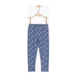 S.Oliver Legginsy Dziewczęce 110 Niebieski. Niebieskie legginsy dla dziewczynek S.Oliver, z jeansu. W wyprzedaży za 49.00 zł.