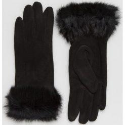 Answear - Rękawiczki. Czerwone rękawiczki damskie ANSWEAR, z dzianiny. Za 69.90 zł.