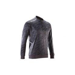Bluza do biegania RUN WARM+ męska. Czarne bluzy męskie KALENJI, z elastanu. Za 69.99 zł.