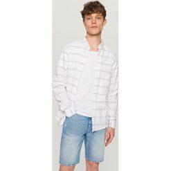 Koszula w paski - Biały. Białe koszule damskie Reserved, w paski. Za 69.99 zł.