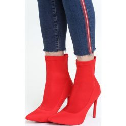 Czerwone Botki Really Sensual. Czerwone botki damskie Born2be, z satyny. Za 119.99 zł.