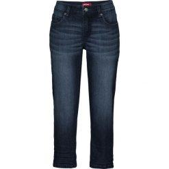 Wygodne dżinsy ze stretchem, dł. 3/4 bonprix ciemnoniebieski. Jeansy damskie marki bonprix. Za 89.99 zł.