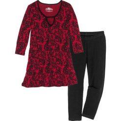 Piżama z legginsami 3/4 bonprix czarno-czerwony z nadrukiem. Piżamy damskie marki bonprix. Za 79.99 zł.
