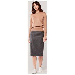 Szare spódnice damskie koszulowe Kolekcja zima 2020