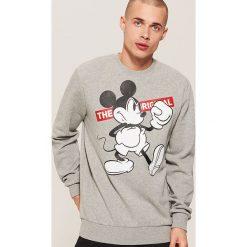 Bluza Mickey Mouse - Szary. Szare bluzy męskie House, z motywem z bajki. Za 99.99 zł.