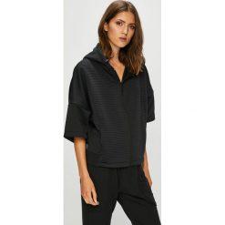 Reebok - Bluza. Czarne bluzy damskie Reebok, z bawełny. W wyprzedaży za 279.90 zł.