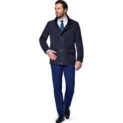 Kurtka Granatowa Clifden. Niebieskie kurtki męskie LANCERTO, biznesowe. W wyprzedaży za 399.90 zł.