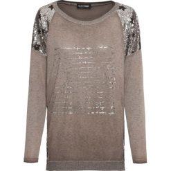 Sweter z cekinami bonprix brązowy. Swetry damskie marki KALENJI. Za 129.99 zł.