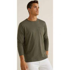 Mango Man - Longsleeve Gareth3. Brązowe bluzki z długim rękawem męskie Mango Man, polo. Za 69.90 zł.