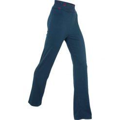 Wygodne spodnie shirtowe na relaks, Level 1 bonprix ciemnoniebieski. Niebieskie spodnie materiałowe damskie bonprix, w paski. Za 74.99 zł.