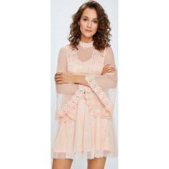 Answear - Sukienka. Szare sukienki damskie ANSWEAR, z koronki, eleganckie. W wyprzedaży za 199.90 zł.