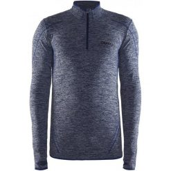 Craft Koszulka Męska  Active Comfort Zip Ls Niebieska M. Niebieskie koszulki sportowe męskie Craft, ze skóry, z długim rękawem. Za 139.00 zł.