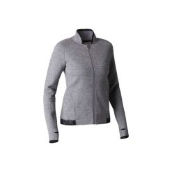 Bluza na zamek Gym & Pilates 900 damska. Szare bluzy damskie DOMYOS, z polaru. Za 84.99 zł.