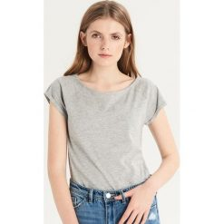 T-shirt basic - Jasny szar. Szare t-shirty damskie Sinsay. Za 9.99 zł.