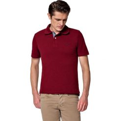 Koszulka Bordowa Polo Jack. Czerwone koszulki polo męskie LANCERTO, z bawełny, z krótkim rękawem. W wyprzedaży za 69.90 zł.